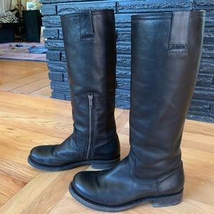 EUC sz 8.5 black Frye Jenna riding boots